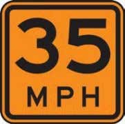 California Manual for Setting Speed Limits 2.3.1 Advisory Temporary Traffic Control Speeds Advisory speed plates (W13-1P)