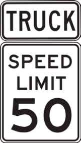 California Manual for Setting Speed Limits Figure 2-7: Truck Plaque with Speed Limit Signs M4-4 M4-4