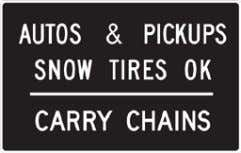 California Manual for Setting Speed Limits Figure 2-8: Chain Control Assemblies R76 (CA) R76 (CA), R2-1,