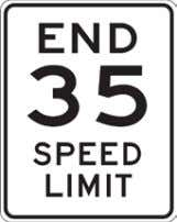 California Manual for Setting Speed Limits 4.3 End Speed Limit: R3 (CA) The R3 (CA) signs