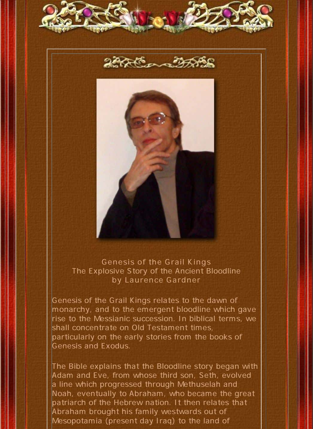 Genesis of the Grail Kings The Explosive Story of the Ancient Bloodline by Laurence Gardner