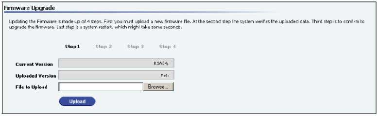Maintenance – Firmware upgrade 1. Upload a new firmware 2. Check the data of the new