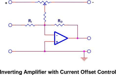 + - R I R O - + Inverting Amplifier with Current Offset Control