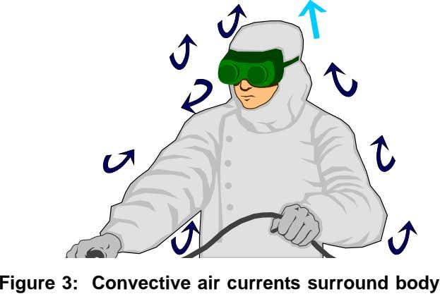 Figure 3: Convective air currents surround body