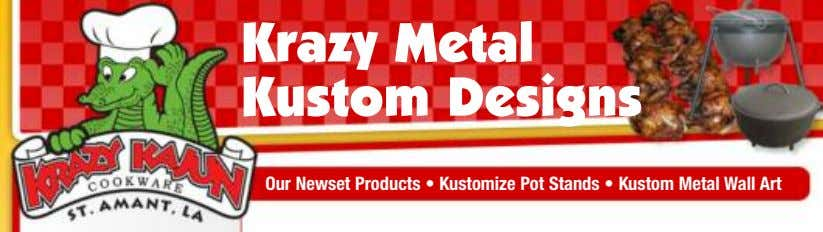 Krazy Metal Kustom Designs Our Newset Products • Kustomize Pot Stands • Kustom Metal Wall