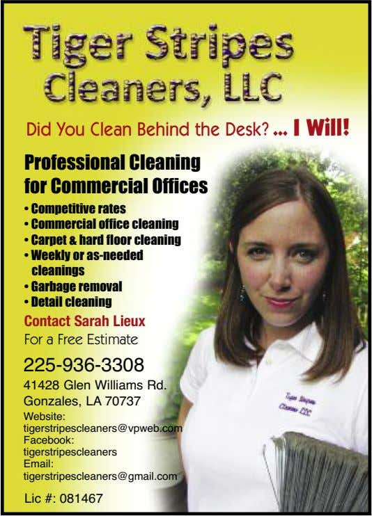 Did You Clean Behind the Desk? I Will! Professional Cleaning for Commercial Offices • Competitive