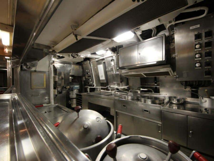 space? The crew's mess, a place to eat and relax while off duty. Galley Even the