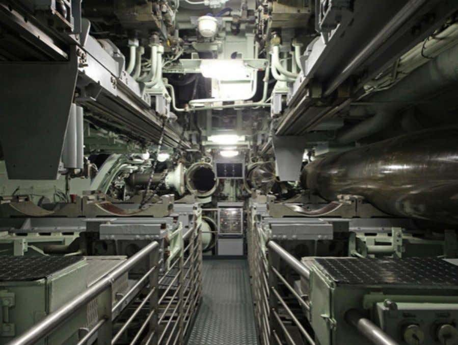 missile submarine) has torpedo tubes for defensive use only. Torpedo tube The torpedoes the Redoutable carried