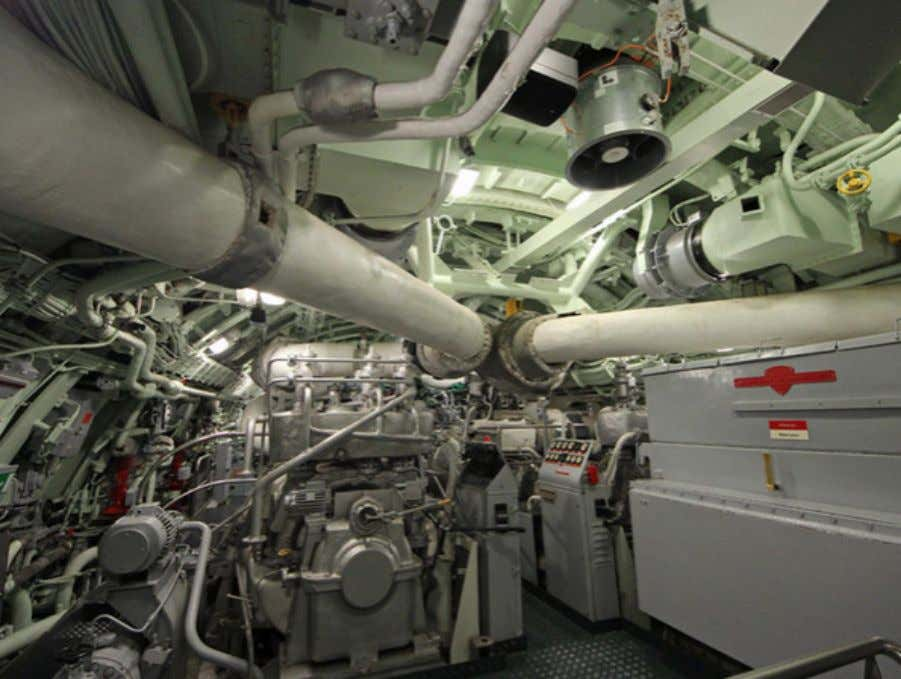tubes A slightly different angle, showing the passage aft. Engine control room Man, this looks like