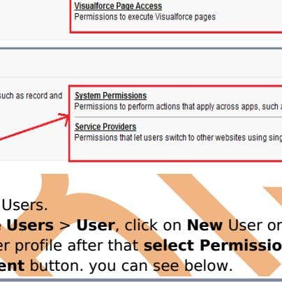 After that click on Users. Setup > Manage Users > User , click on New