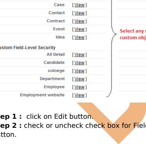 level security , click on any filed . you can see below. Step 1 : click