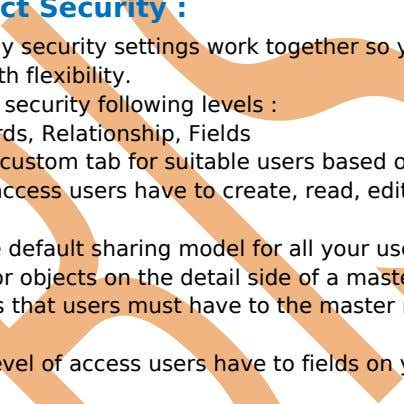 Visible. you can choose it. Custom Object Security : In SalesForce many security settings work together