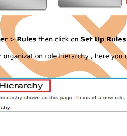 How to Set Rules : Click Setup > Manage user > Rules then click on