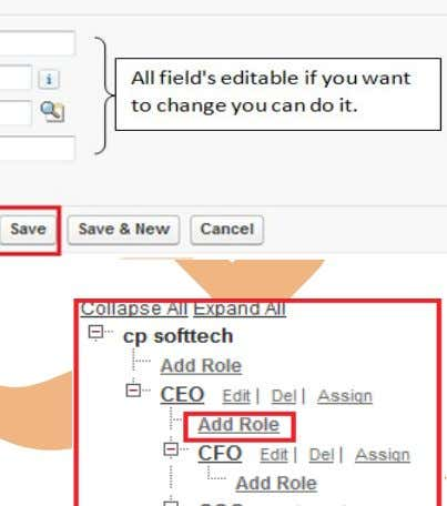 name you can do it. after that click on Save button. Add Role : Step 1