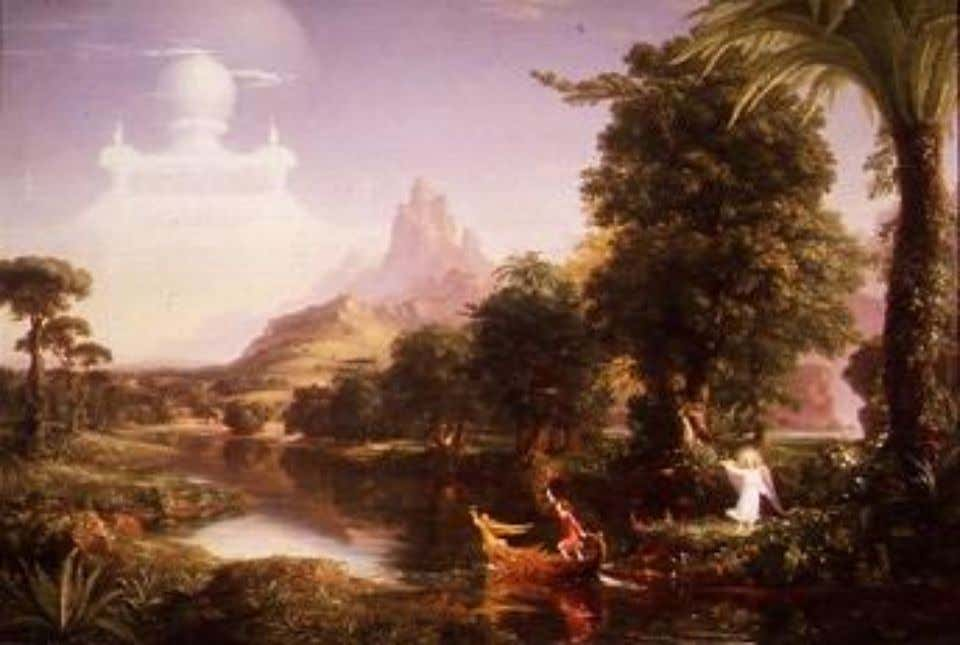 136. Transcendentalism Thomas Cole The Voyage of Life: Youth 1842