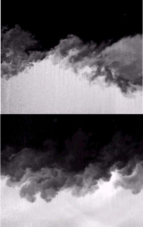 and turbulent for Re > 3×10 5 , or so [14, 17]. Figure 11 Rayleigh-scattering images