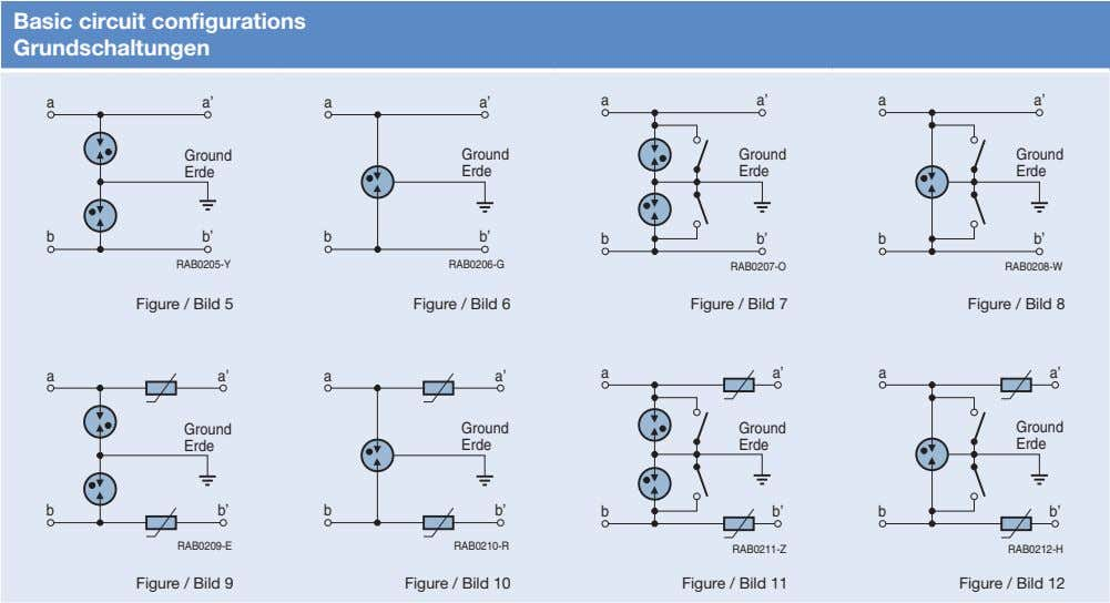 Basic circuit configurations Grundschaltungen a a' a a' a a' a a' Ground Ground Ground