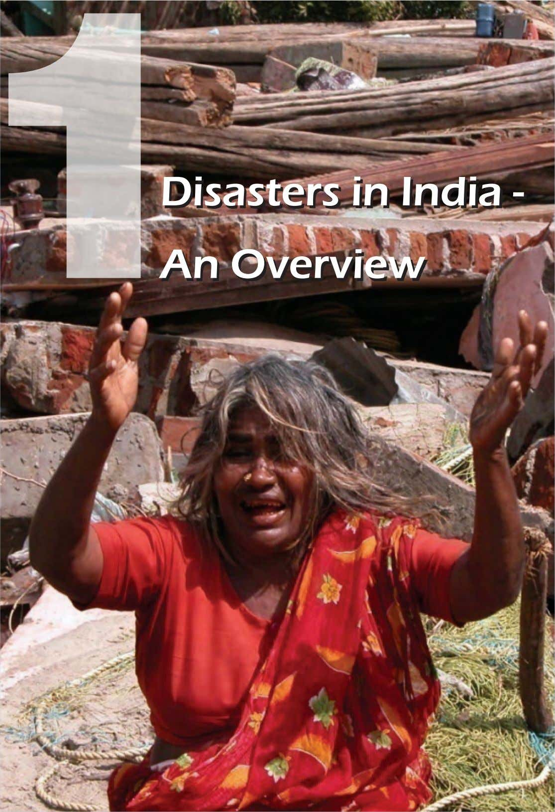 Disasters in India - An Overview