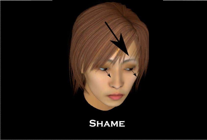 Shame Shame is expressed by a combination of two action units but since I did not