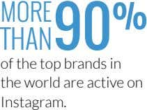 MORE THAN of the top brands in the world are active on Instagram.