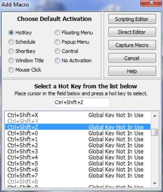 HotKeys A hotkey is a combination of keys that, when pressed together, will play back a