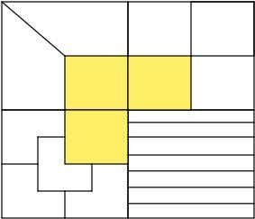 • The fig shows 4 squares-A,B,C&D. 1/4th of squares A,B&C is shaded. 1. Divide Unshaded portion
