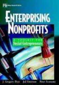 Nonprofits Author: J. Gregory Dees, Publisher: Wiley Name of the Book: Social Entrepreneurship Author: David