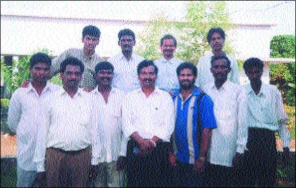 ready for baptism. He held a reaping crusade in February. Samchalam (ABOVE: Front row, second from
