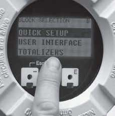 of flowmeters for application- specific modifications. Time-saving 'Quick Setups' The Quick Setup menus make