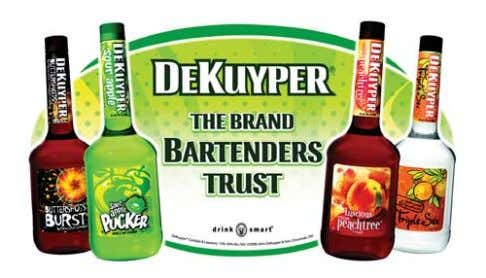 "innovative ""flavor families"" packaging and marketing. DeKuyper's vibrant spectrum of cordials and liqueurs has"