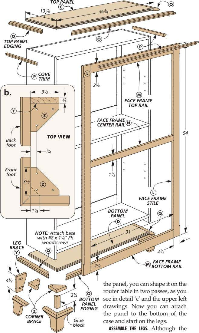b. the panel, you can shape it on the router table in two passes, as