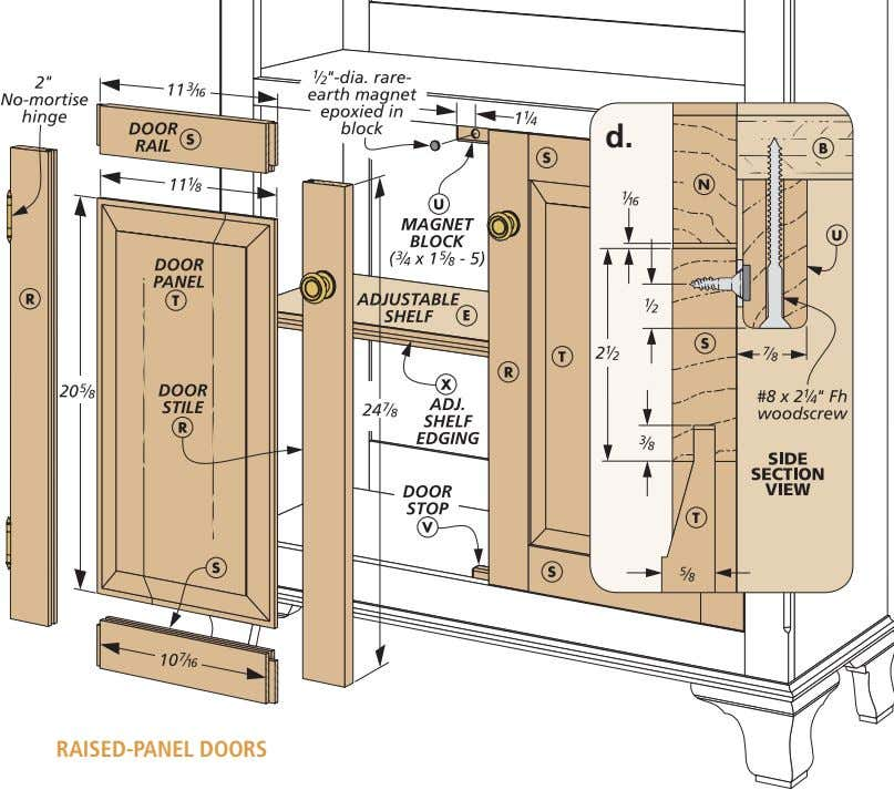 d. RAISED-PANEL DOORS