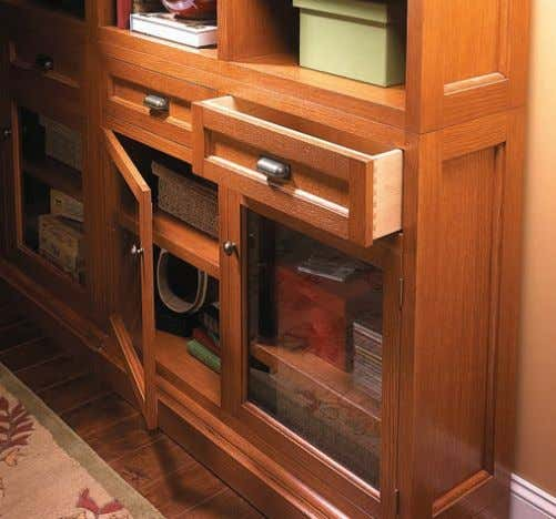 Optional Drawers&Doors Adding doors and drawers to the bookcase dramatically changes its look. Just take