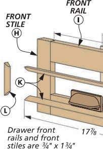 "NOTE: Drawer molding is #/8"" x #/8"" Ply. b. c. DRAWER PULL & STOP. To finish"
