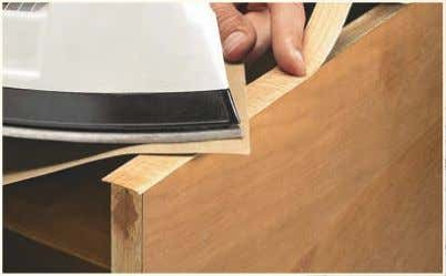for quick- connect fasteners, go to: WoodsmithSpecials.com Edge Banding. Iron-on edge banding is easy to apply,