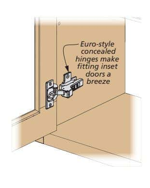 Euro-style concealed hinges make fitting inset doors a breeze