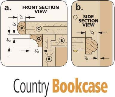 a. b. Country Bookcase