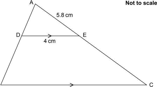 A Not to scale 5.8 cm D E 4 cm C