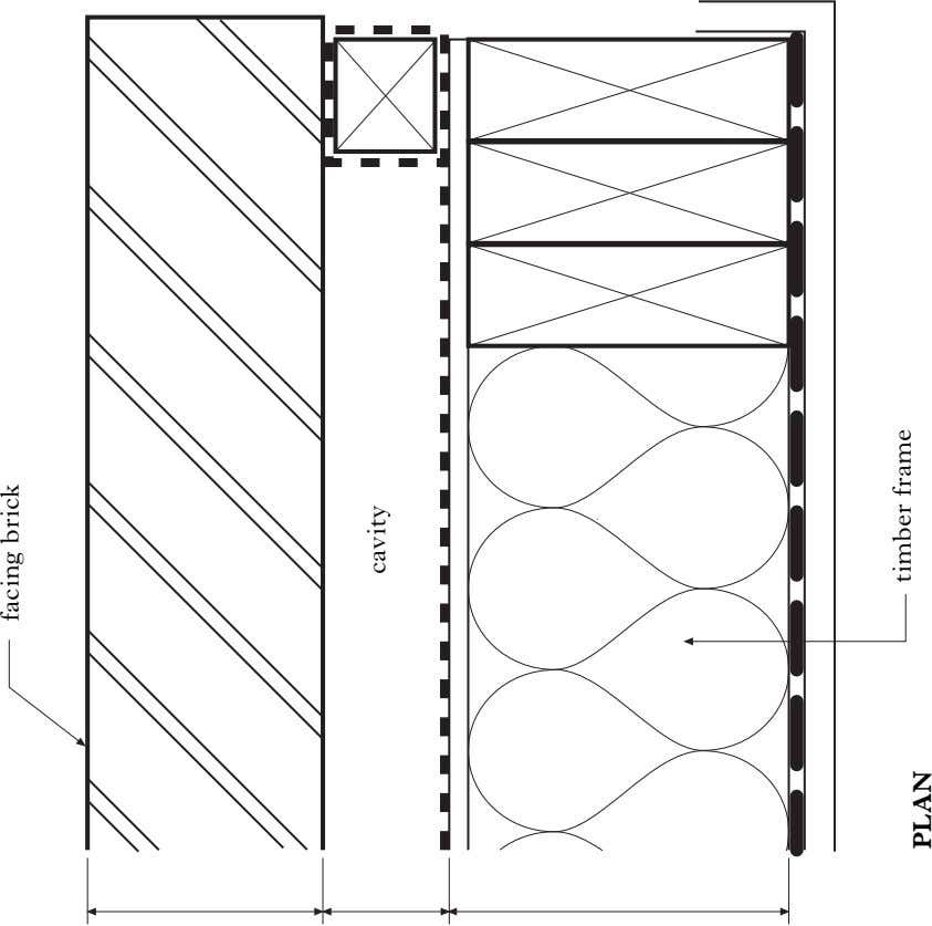facing brick cavity timber frame PLAN