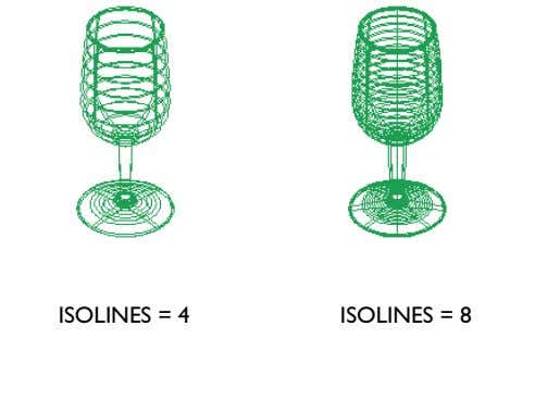 ISOLINES = 4 ISOLINES = 8