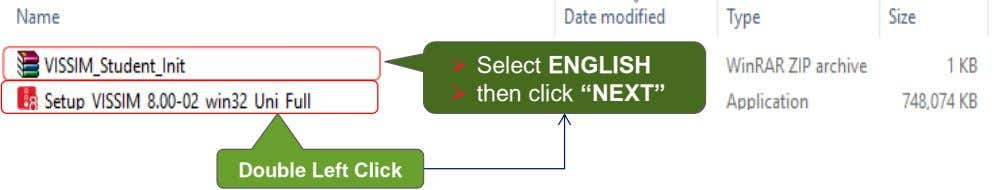" Select ENGLISH  then click ""NEXT"" Double Left Click"