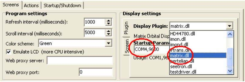 the communication speed is 9600bps. (As shown in fig 1.6). Fig 1.6 Select plug-in and fill