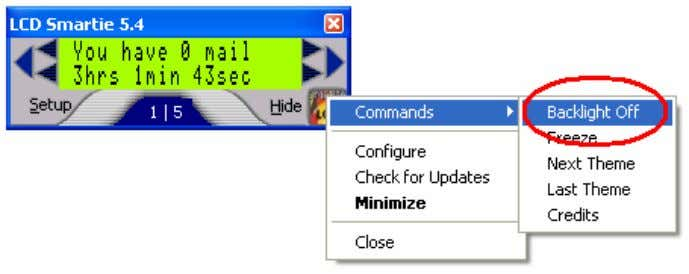 Overview again. Fig 1.8 Turn off the backlight An example of how the time of PC
