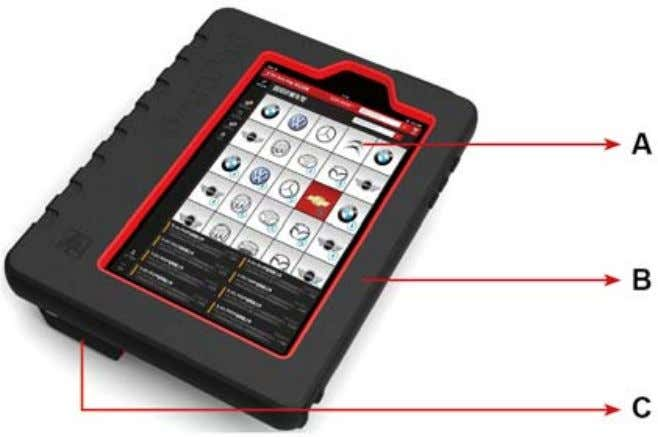 sleeve and a diagnostic connector (in red & black). Fig. 1-1 ScanPad 071 whole set A
