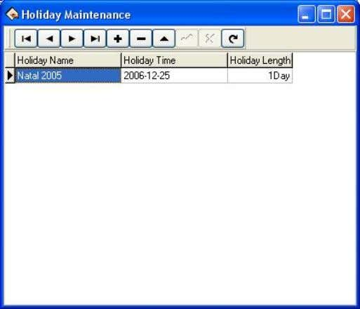 dll. (Klik Menu Maintenance/Options > Holiday List ) 2. ADMINISTRATOR Menu ini untuk membuat administrator di