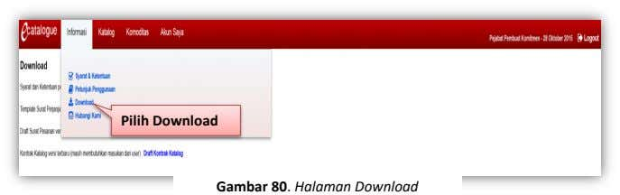 Pilih Download Gambar 80. Halaman Download