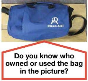 Do you know who owned or used the bag in the picture?