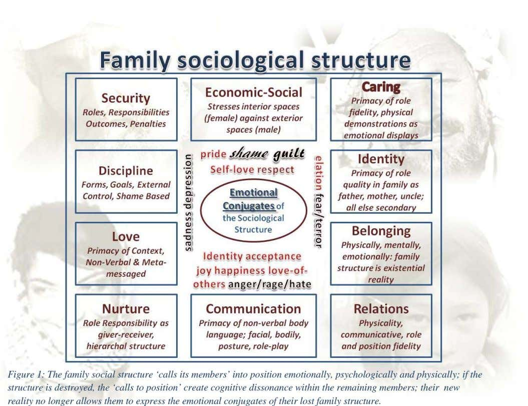 Figure 1: The family social structure 'calls its members' into position emotionally, psychologically and physically; if