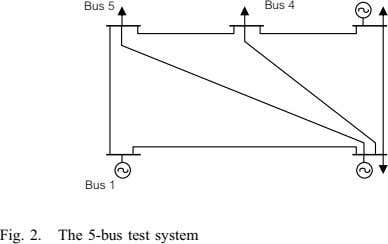 Fig. 2. The 5-bus test system
