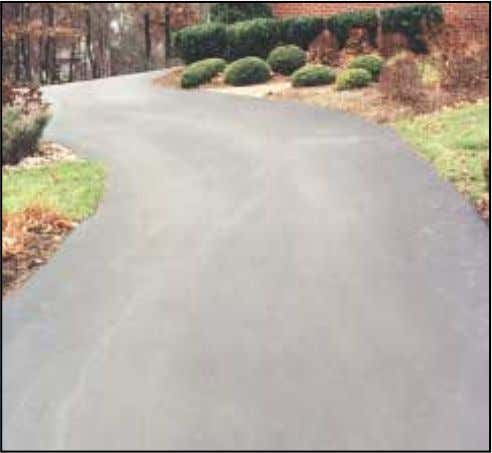RESIDENTIAL DRIVES, PLAY AREAS PAVEMENT WIDTH Residential driveways for a single automobile, the pavement should be